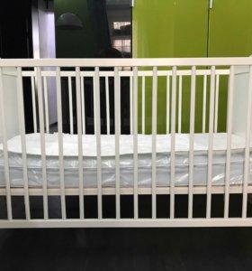 Детская кроватка Икея 120 х 60 с матрасом