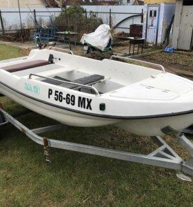 Лодка LAKER410, моторSUZUKI 15!