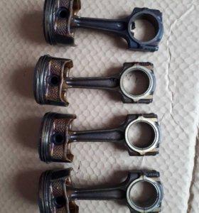 Peugeot(пежо) 407 Поршня с шатунами Пежо 407 2.0 л