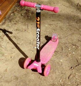 Самокат розовый