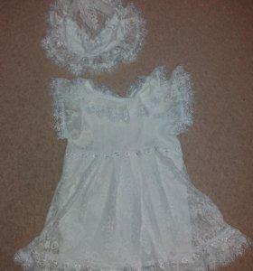 Платье + панамка р.80-86-92