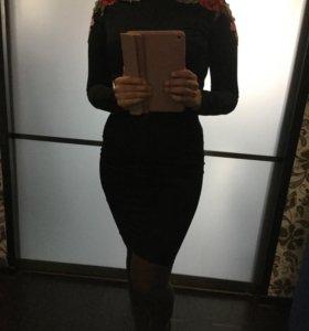 Платье чёрное 42р новое