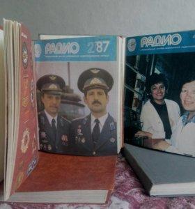 """Годовые подшивки журналов """"Радио"""", 1984-1991 гг."""