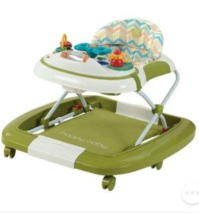 Ходунки-качалка Happy Baby Robin, цвет: green