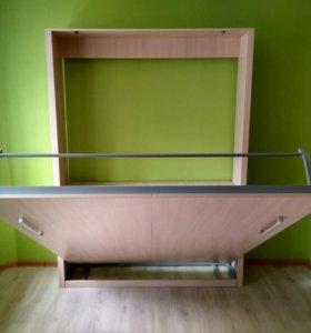 Шкаф-кровать. Двуспальная кровать-трансформер