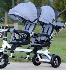 Велосипед для двойняшек и погодок