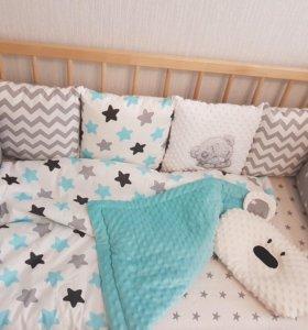 Бортики в кроватку новые в наличии