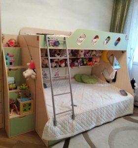 Кровать детская двухярусная, двухэтажная
