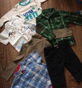 Пакет одежды на мальчика 74-86