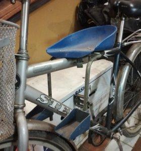 Детское сиденье на раму велосипеда