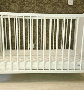 Кроватка детская ИКЕА + матрас