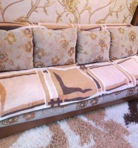 Продам диван раскладной б/у в хорошем состоянии