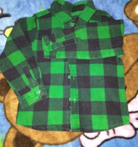 Рубашка фланелевая детская