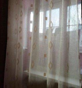 Тюлевая штора из органзы