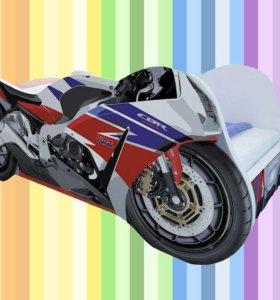 Детская кровать мотоцикл