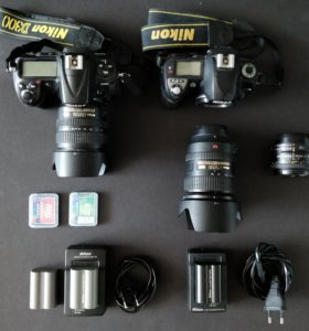 фотоаппарат nikon и 2 объектива nikkor