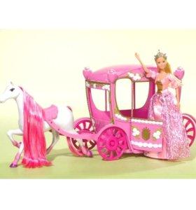 Кукла Штеффи в карете с лошадью 60 см. Simba