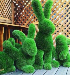 Топиари Кролики