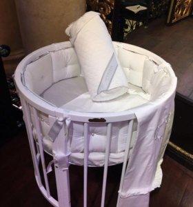 Детская кровать трансформер для малыша 6 в 1
