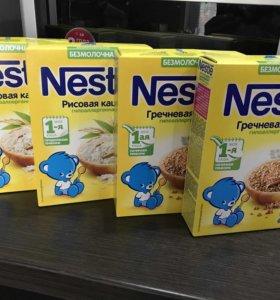 Nestle гречневая и рисовая безмолочные каши