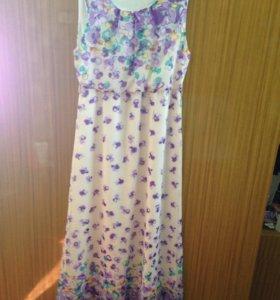 Платье шифоновое в пол