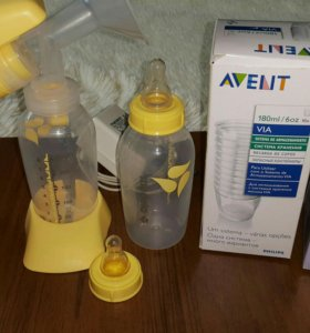Молокоотсос электрический Medela+контейнеры д/мол.