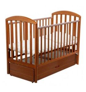 Детская кроватка Papaloni Джованни маятник, 120х60