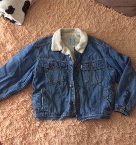 мужская джинсовая куртка на меху