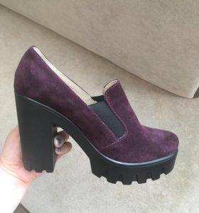 Туфли новые. Нат. Замша