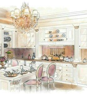 Кухонные гарнитуры из дерева