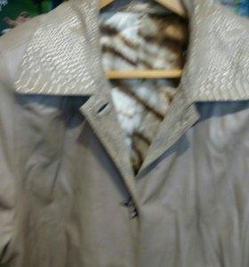 Кожаная, новая куртка, 58-60р