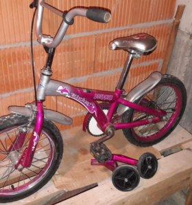 Велосипед детский с доп колесами
