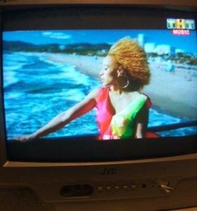 Телевизор JVC переносной цветной