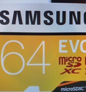 Карта памяти SAMSUNG EVO 64 ГБ