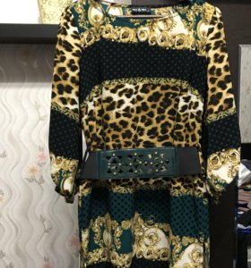 Платье-туника с оригинальным поясом !)