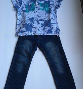 Джинсы KANZ и футболка H&M