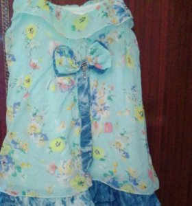 Летнее платье на девочку 4, 5 лет