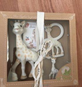 Жираф Софи vulli, прорезыватель и брелок