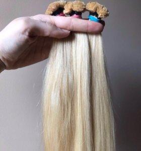 Волосы на капсулах 70 см цвет блонд