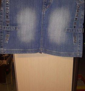 Юбка джинсовая новая одевалась один раз