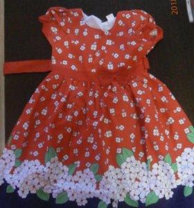 Новое платье на 6-7 лет