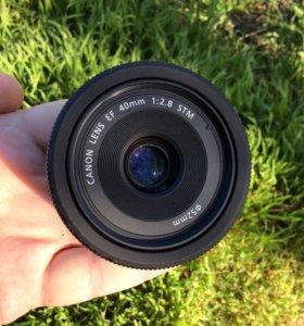 Объектив Canon EF 40 F 2.8 STM