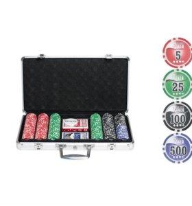 """Набор для покера """"Натс-300"""" фишек с номиналом"""