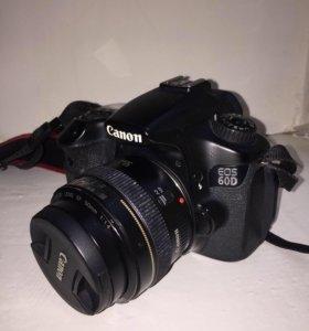 Фотоаппарат Canon 60d+ объектив 50mm