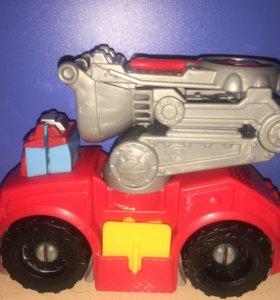 Пожарная машинка playDoh и bruder