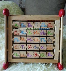 I'm toy Деревянная игрушка, Развивающий центр 7 в