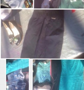 вещи пакетом ( шорты, юбка, платье, кофта)