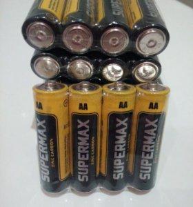 Батарейки пальчиковые Supermax