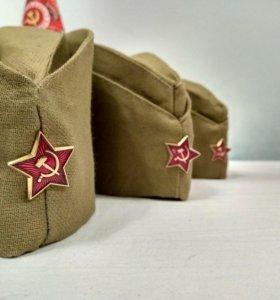 Пилотки на День Победы ЦЕНА +КАЧЕСТВО