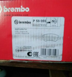 Колодки тормозные передние Brembo Р 59 055